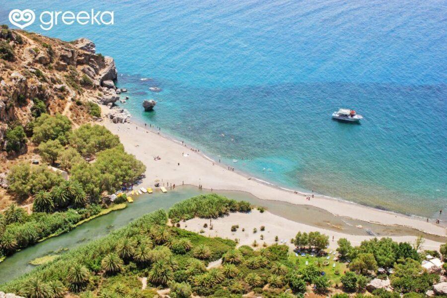 Preveli beach in south Crete