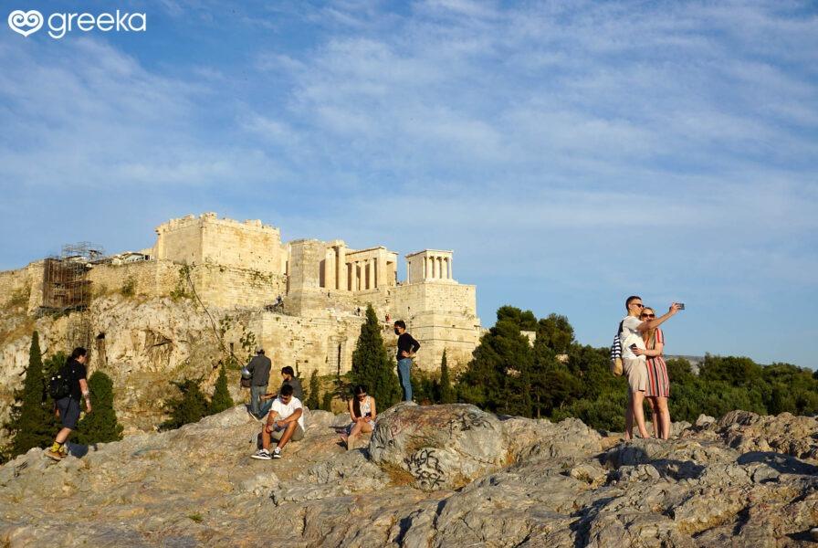 On the Arios Pagos rock, near the Acropolis