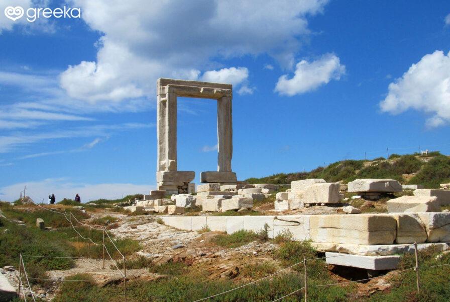 Portara, thee landmark of Naxos