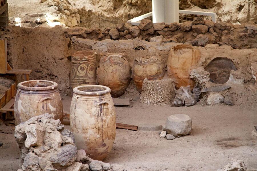 Akrotiri Ancient site in Santorini