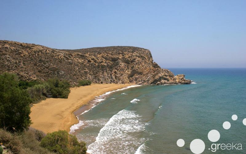 Anafi island in Greece