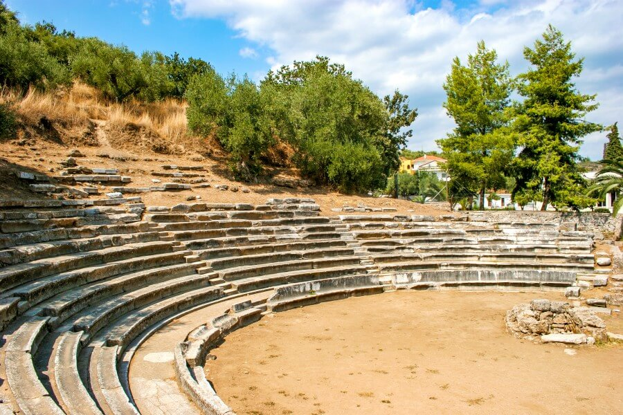ancient theater githio