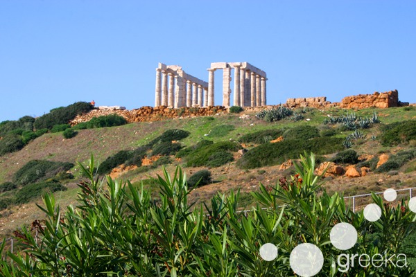 Athens famous buildings: Temple of Poseidon at Cape Sounion