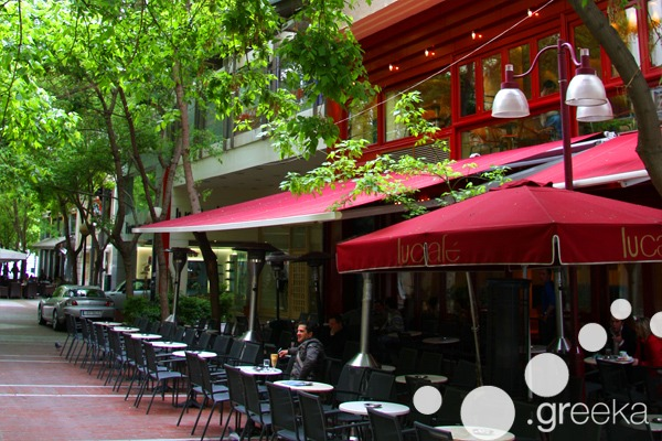 Athens in winter: Sitting in outdoor cafe