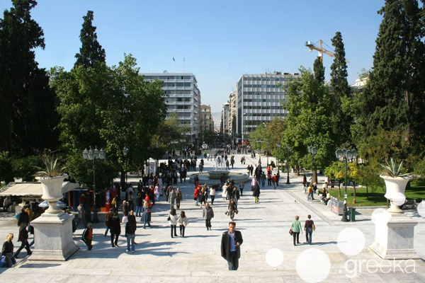 A winter day in Athens, Syntagma Square