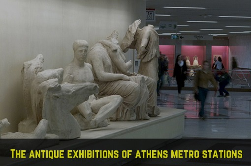 Antique exhibitions in Athens metro