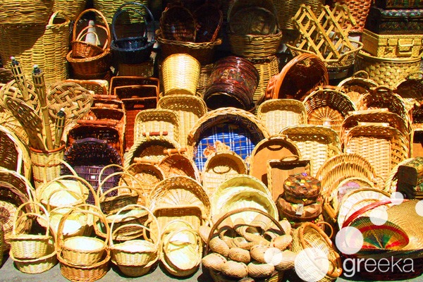 What to buy in Athens: Handmade baskets in Monastiraki