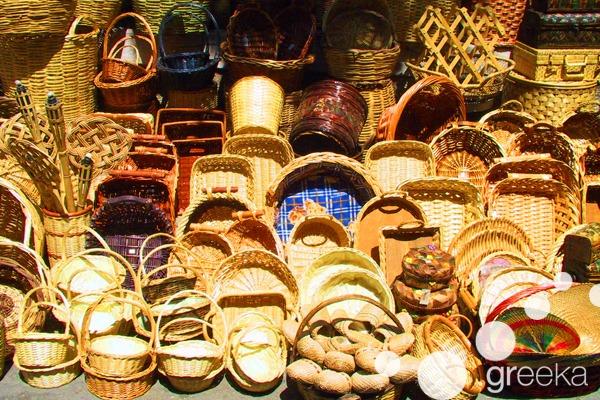 What to buy in Athens: Handmade baskets in Monastiraki