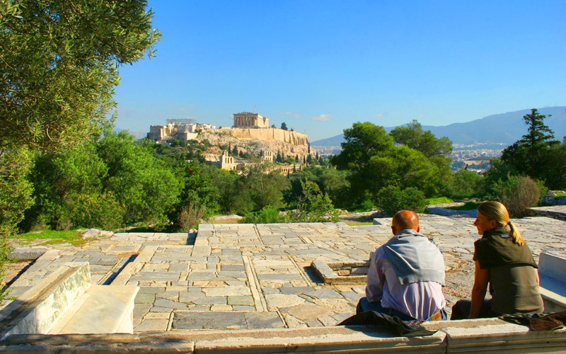 Best places for panoramic view of Athens: Philopappos Hill
