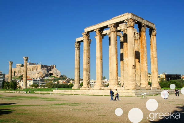 Temple of Olympian Zeus in Athens Greece