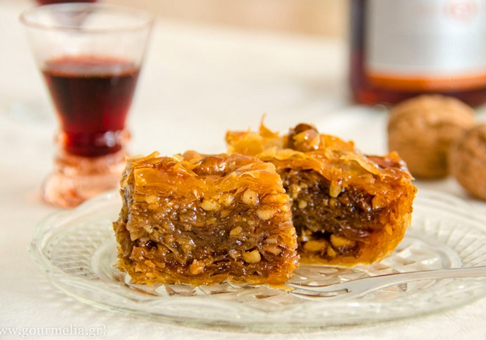 Greek baklava and syrup sweets