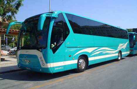 Travel around Greece by bus
