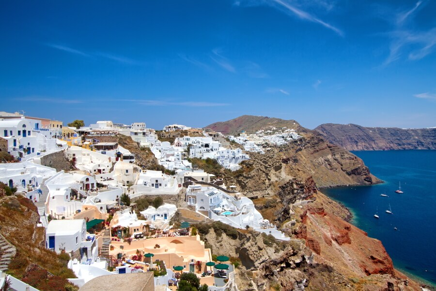 boat tour to santorini