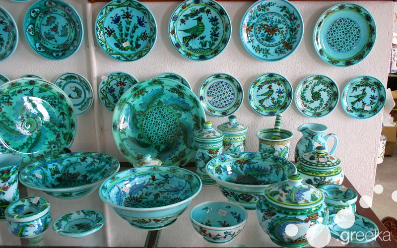 Ceramic plates from Skyros Greece