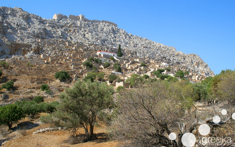 Chorio Medieval village in Halki