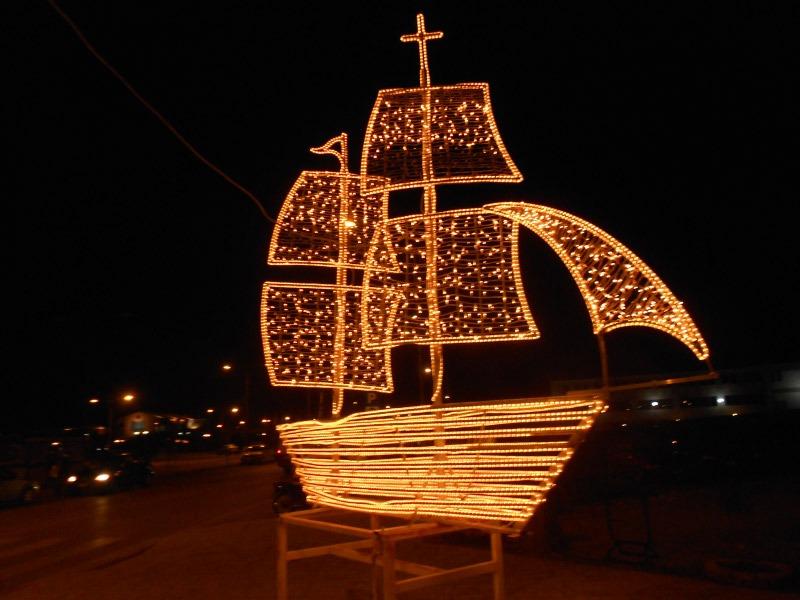Christmas boat