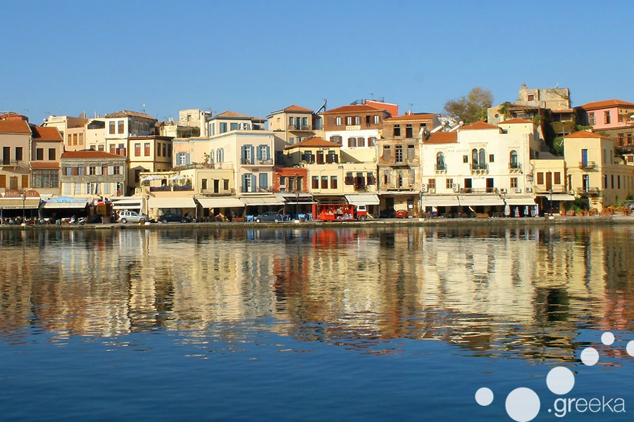 Medieval port in Chania Town, Crete island