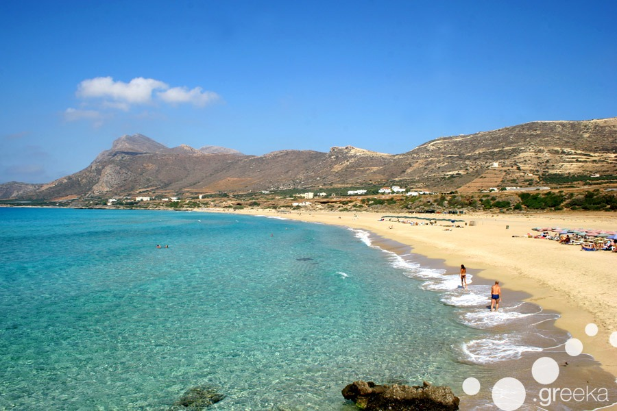 Beautiful Falassarna beach in Crete