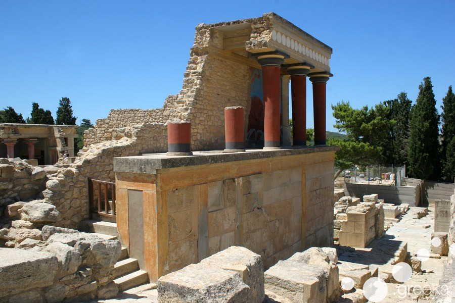 Knossos Minoan Palace in Crete