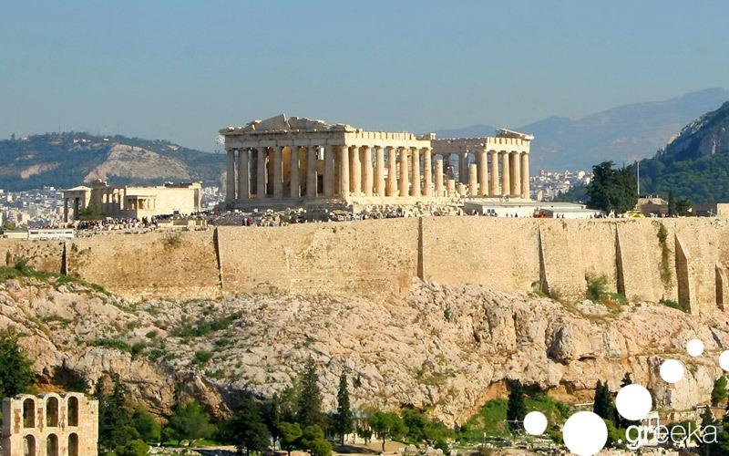 Famous Greek landmarks: Athens Acropolis