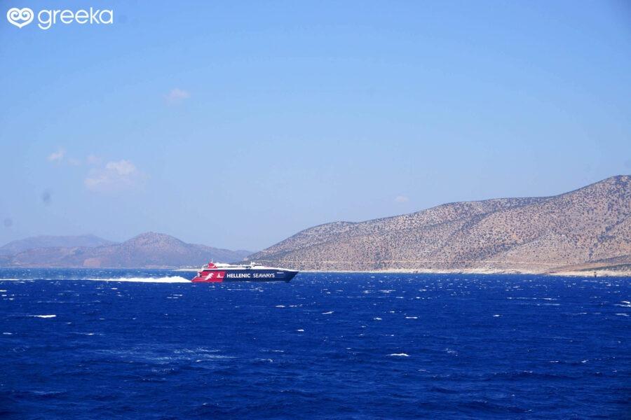 A high-speed vessel by Hellenic Seaways/Blue Star Ferries
