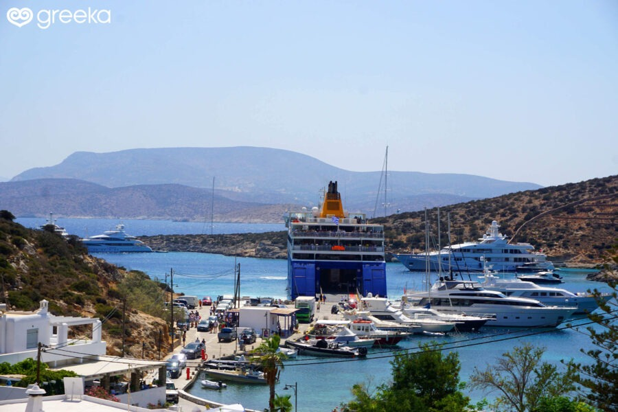 Travelling by ferry to the Greek islands
