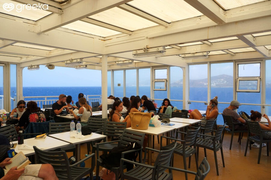 Outdoor space on a Blue Star Ferry