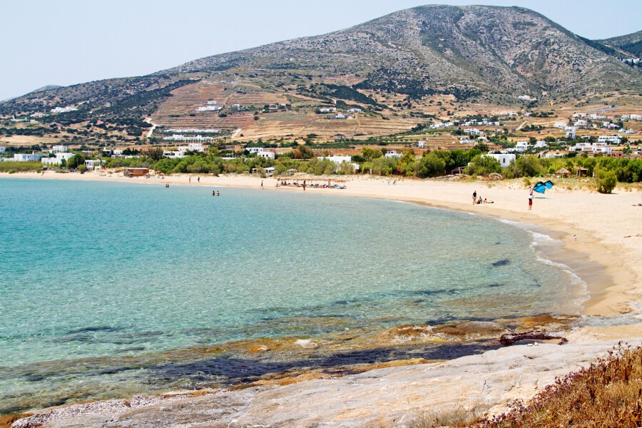 golden beach paros