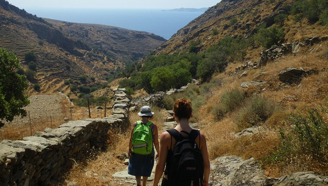 Walking in the Greek islands