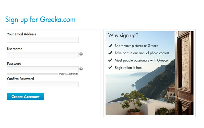 Become a Member in Greeka.com
