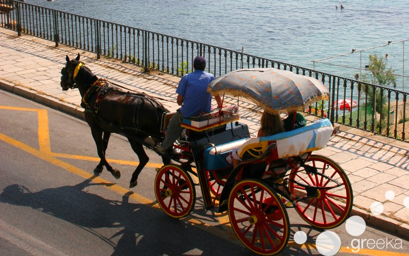 Horse carriage in Corfu