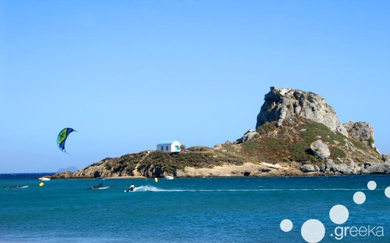 Kitesurfing in Kos, Greece
