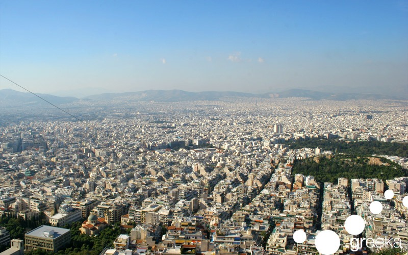 The Lycabettus Hill in best places with panoramic view of Athens