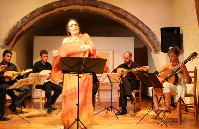 Performance of Megaron Gyzi Festival in Santorini