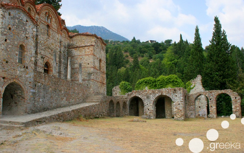 Medieval Castle of Mystras in Peloponnese