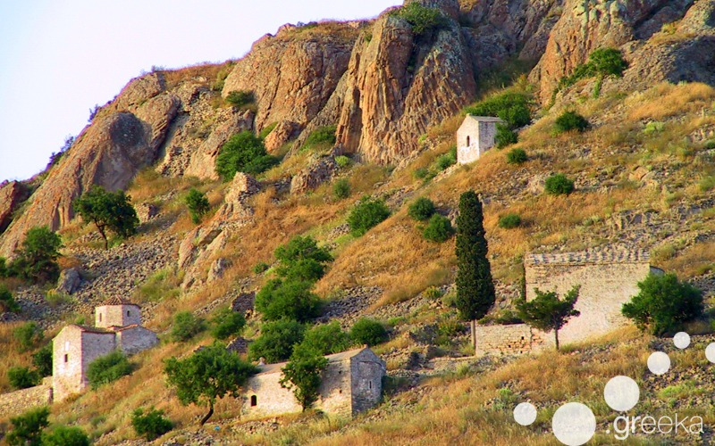 Abandoned village of Paleochora in Aegina