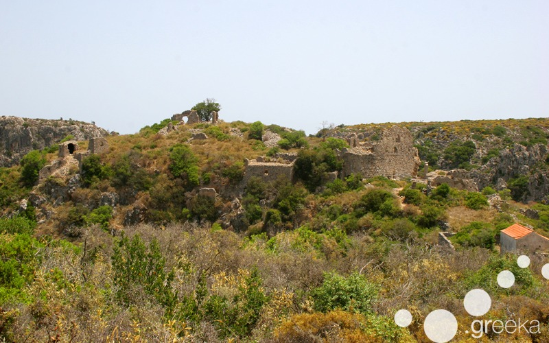 Ruined village of Paleochora in Kythira