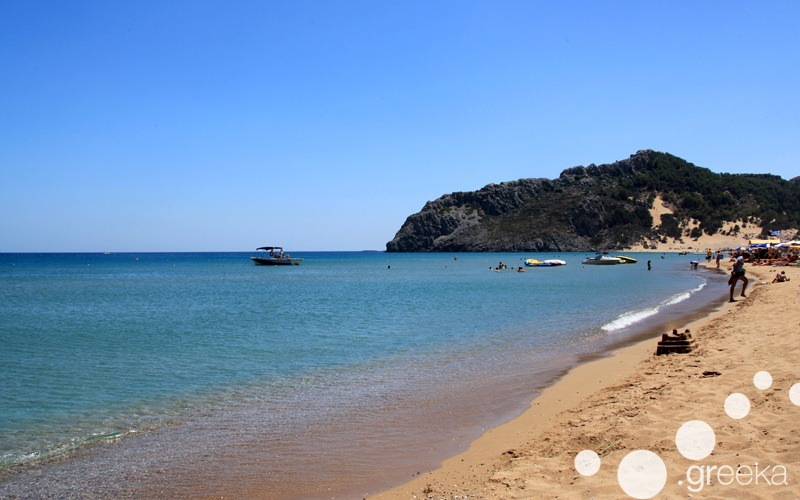Tsambika Beach in Rhodes