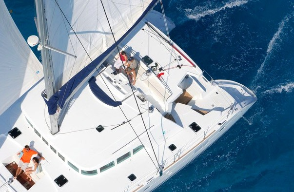 Birthday on a yacht in Greece