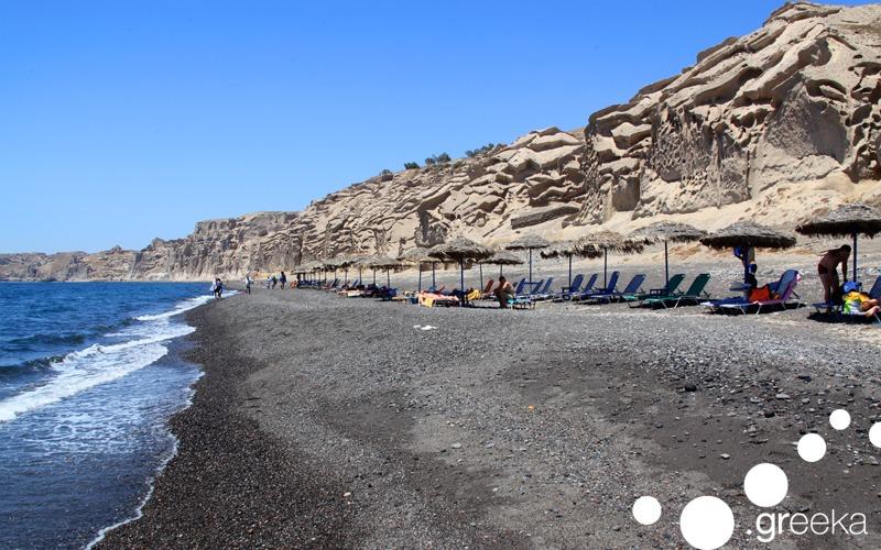 Alternative things to do in Santorini: Visit Eros Beach