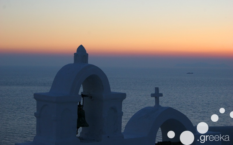 Sunset time in Santorini