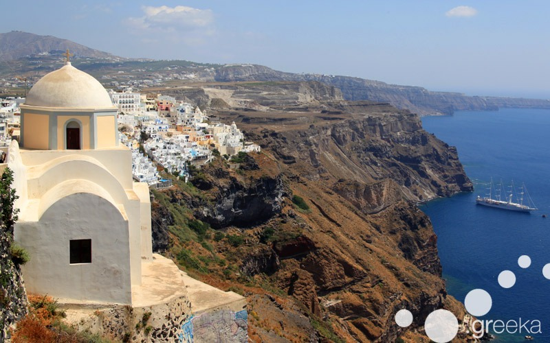 Caldera villages in Santorini