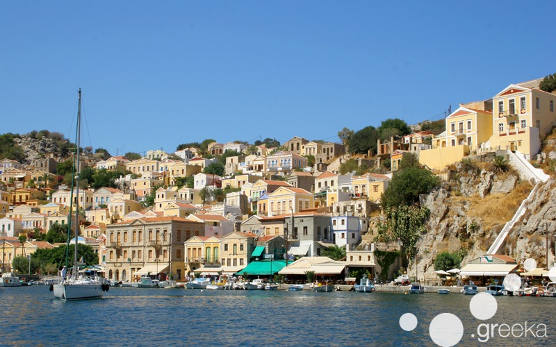 Simi island day from from Rhodes