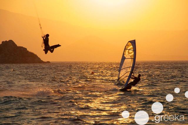 Windsurfing and Kitesurfing in Naxos