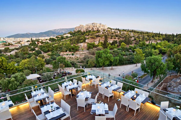 Roof gardens in Athens: Thissio View