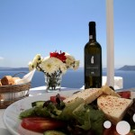 Famous wine of Santorini